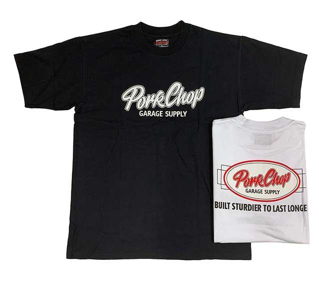 PORKCHOP GARAGE SUPPLY ポークチョップ ガレージサプライ OVAL BUILT TEE オーバル ビルトゥ Tシャツ 2色(BLACK/WHITE) 半袖