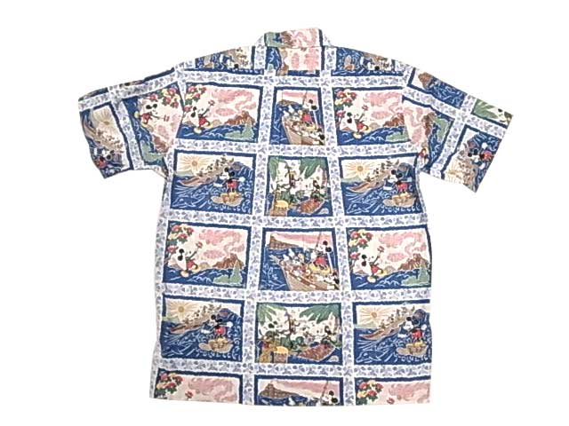 reyn spooner レインスプーナー Hawaiian Shirt アロハ ハワイアン プルオーバー シャツ color:NAVY ディズニーコラボ ミッキー【DEADSTOCK デッドストック】