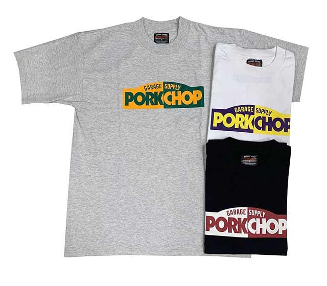 PORKCHOP GARAGE SUPPLY ポークチョップ ガレージサプライ BLOCK LOGO TEE ブロックロゴ Tシャツ 3色(GRAY/WHITE/BLACK) 半袖
