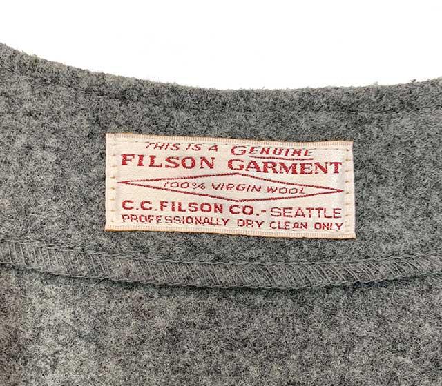 FILSON フィルソン WOOL VEST ウールベスト ビッグサイズ GREY グレー 【BIG SIZE】【USED ユーズド】【中古】