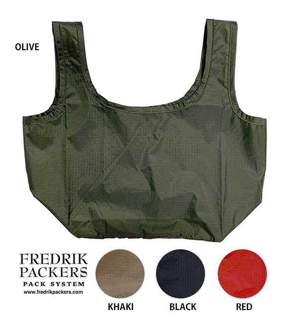 【16時までのご注文、即日発送】 FREDRIK PACKERS フレドリックパッカーズ CONVENI エコバッグ マチ付き 4色(OLIVE/BLACK/RED/KHAKI)FREDRIKPACKERS フレドリック パッカーズ