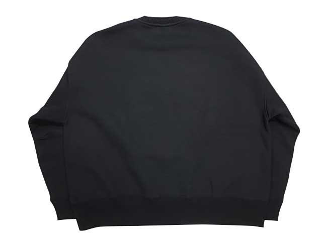 PORKCHOP ポークチョップ PORK FRONT STITCH SWEAT フロント スティッチ クルー スウェット BLACK ブラック