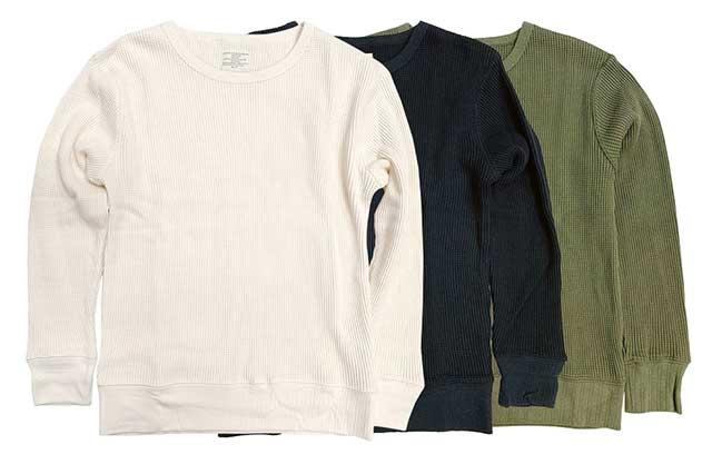 COLD WEATHER EXTRA HEAVY WEIGT THERMAL サーマル ワッフル アンダーシャツ 3色(ナチュラル/ブラック/オリーブ) 【新品】