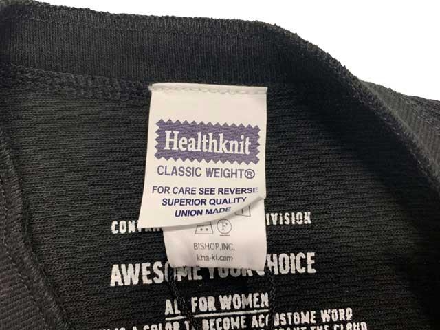 kha:ki カーキ × Healthknit ヘルスニット WIDE THERMAL LONG C/D ワイド サーマル ロング カーディガン BLACK ブラック size.1