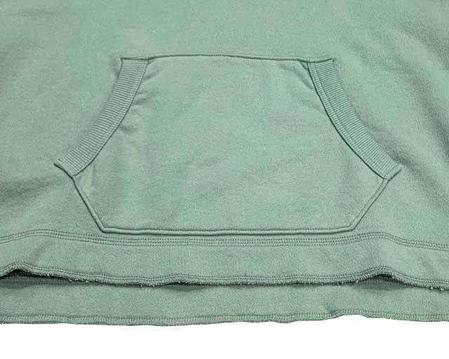 Kha:ki カーキ SWEAT WIDE HOODIE スウェット ワイド フーディ ワイドシルエット size.1 プルパーカー 3色(VINTAGE GREEN/WHITE/BROWN)