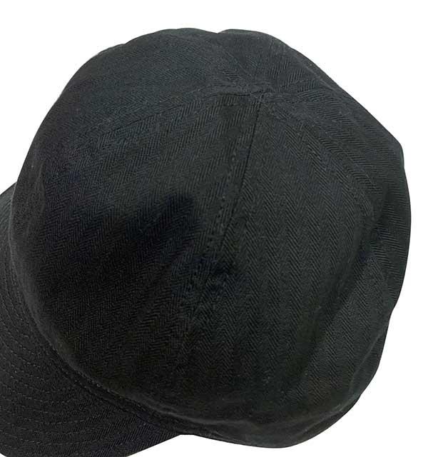 STEVENSON OVERALL CO. スティーブンソン オーバーオール Mechanic CAP メカニックキャップ 別注 BLACK ブラック