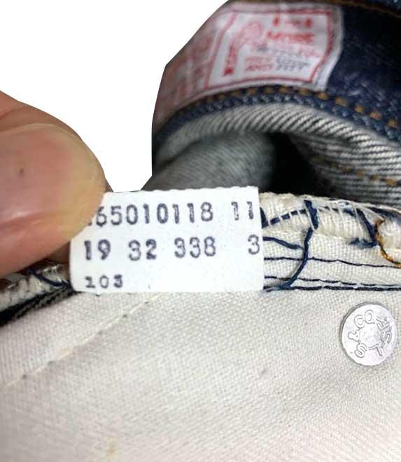 LEVI'S リーバイス 26501 カンヌキ 股シングル 実寸W30.5L35.5 DEADSTOCK デッドストック【Vintage ヴィンテージ】【中古】