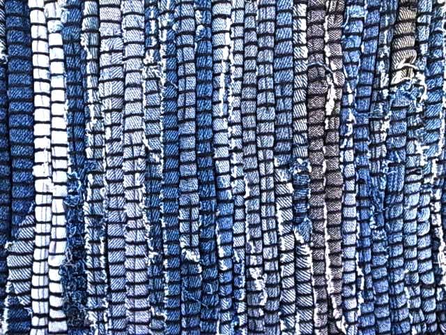 INDIA FLAG DENIM RUG インディア フラッグ デニム ラグ 150×200ブルー MADE IN INDIA インド製