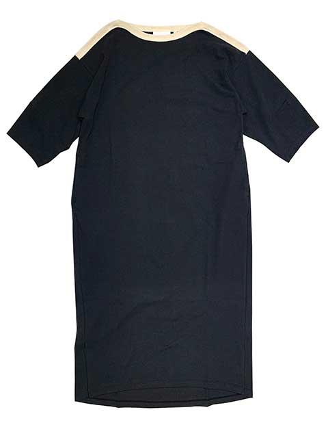 【SALE 20%OFF】kha:ki カーキ WIDE SLEVE DRESS ワイド スリーブ ドレス ワンピース  3色(SAND/BLACK/WHITE)