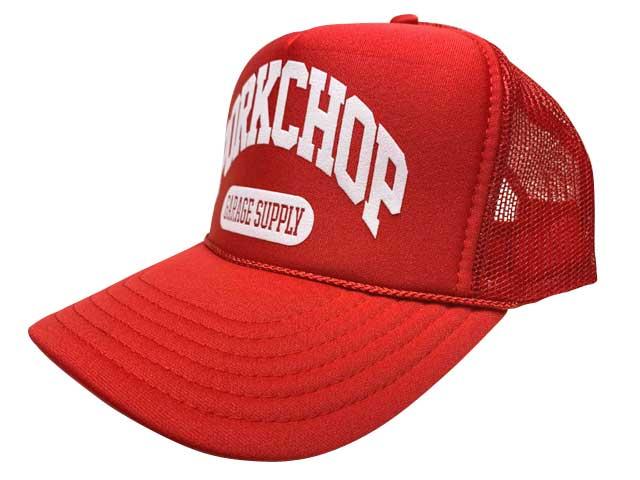 PORKCHOP GARAGE SUPPLY ポークチョップ ガレージサプライ COLLEGE CAP カレッジ キャップ 帽子 4色(BLACK/RED/WHITE/DARK GREEN)