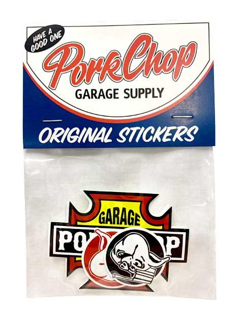 PORKCHOP GARAGE SUPPLY ポークチョップ ガレージサプライ BAR&SHIELD STICKER SET バーアンドシールド ステッカー セット 4枚入り シール
