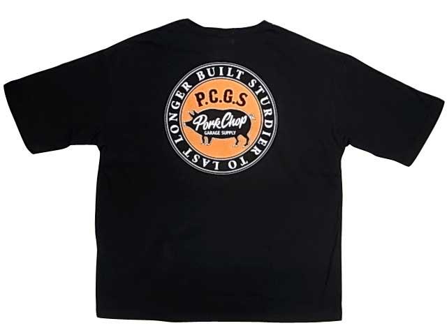 PORKCHOP GARAGE SUPPLY ポークチョップ ガレージサプライ CIRCLE PORK POCKET TEE サークル ポーク ポケット Tシャツ 半袖 2色(BLACK/WHITE)