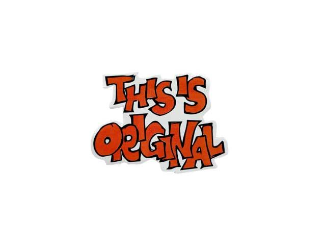 PORKCHOP GARAGE SUPPLY ポークチョップ ガレージサプライ THIS IS ORIGINAL STICKER SET ディスイズ オリジナル ステッカー セット 4枚入り シール