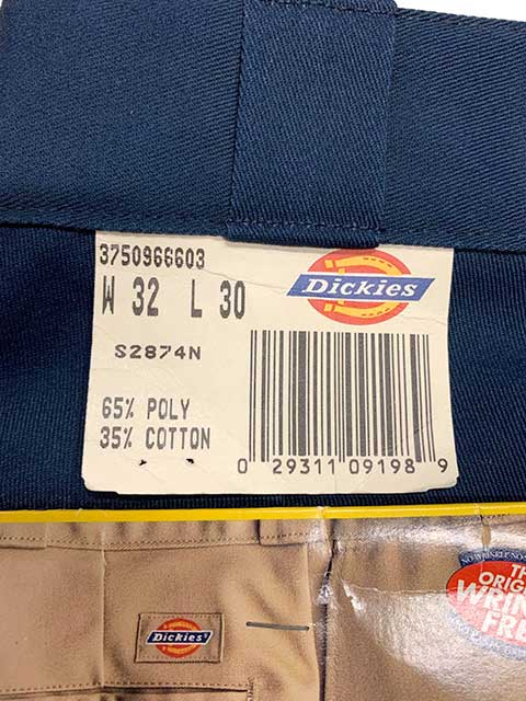 Dickies ディッキーズ S2874N ワークパンツ ライナー付き W32L30 color:NAVY アメリカ製 DEADSTOCK デッドストック【Vintage ヴィンテージ】【中古】
