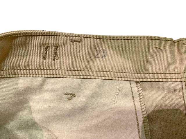 【DEAD STOCK】1990年代製 US COMBAT TROUSERS 6C 6COLOR DESERT CAMOUFLAGE size:SMALL-SHORT BDUパンツ 米軍 軍パン  6カラーデザートカモ チョコチップ 【デッドストック】