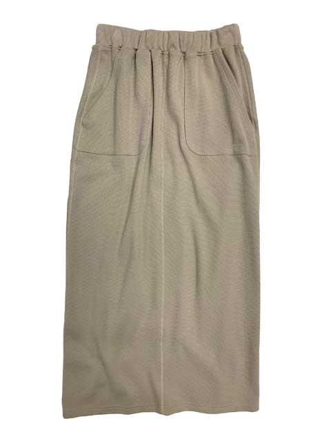 kha:ki カーキ × Healthknit ヘルスニット THERMAL I-LINE SKIRT サーマル アイライン スカート 2色(GRAYGE/BLACK) ロングスカート