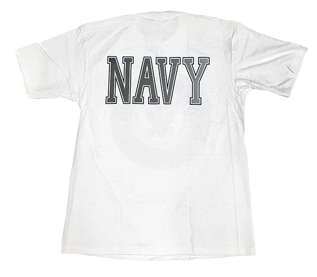 【DEAD STOCK】90s U.S. NAVY T-Shirts USネイビー Tシャツ WHITE ホワイト リフレクタープリント 【デッドストック】