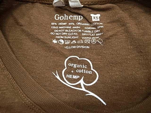 GOHEMP ゴーヘンプ SUNDAY ONEPIECE H/OC JERSEY サンデー ワンピース オーガニックコットン ヘンプ go hemp 2019モデル