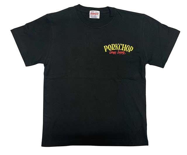 PORKCHOP GARAGE SUPPLY ポークチョップ ガレージサプライ PORK BACK S/S TEE ポークバック Tシャツ 半袖 2色(WHITE/BLACK)