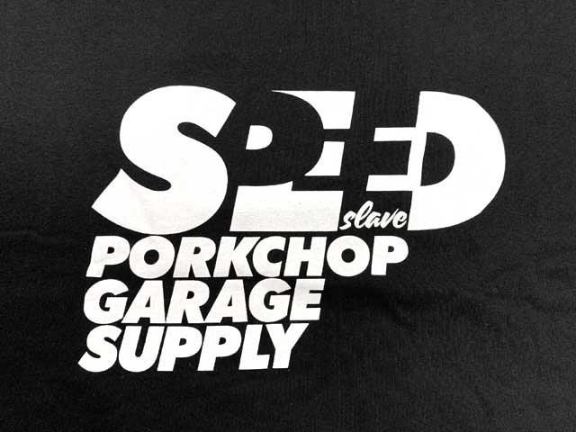 PORKCHOP GARAGE SUPPLY ポークチョップ ガレージサプライ SPEED SLAVE L/S TEE スピード スレーブ ロングスリーブ 長袖 Tシャツ 2色(BLACK/WHITE)