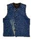 BAA × TAC 40's Vintage Re-Make Boa Vest ヴィンテージ リメイク ボア ベスト Mサイズ ステンシル BOW & ARROW × TAC 別注 コラボ