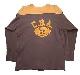 CHAMPION チャンピオン Football TEE フットボール Tシャツ エルボーパッチ size:L color:BROWN/MUSTARD 【VINTAGE ヴィンテージ】【中古】