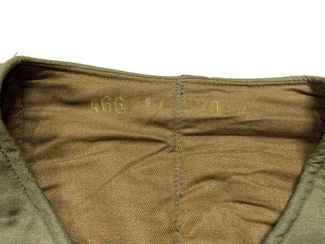 【DEAD STOCK】 チェコ軍 M60 ライナージャケット デッドストック 中綿 OLIVE オリーブ Vz.60 Vzor60