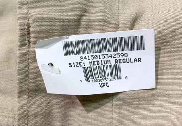 【DEAD STOCK】 2007年製 米軍 BDU JACKET ミリタリージャケット MEDIUM-REGULAR ミディアム レギュラー M-R KHAKI カーキ ファティーグジャケット【デッドストック】