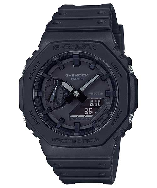CASIO カシオ G-SHOCK ジーショック BASIC ANALOG GA-2100 アナログ BLACK ブラック 腕時計