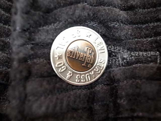 Levi's リーバイス SILVERTAB シルバータブ コーデュロイ MINERAL BLACK 5W CORD ブラック 太畝