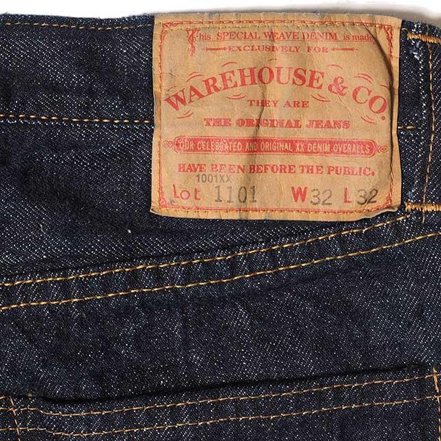 WAREHOUSE ウエアハウス Lot DD-1101 (1967 MODEL) ONE WASH デニム ジーンズ indigo ワンウォッシュ