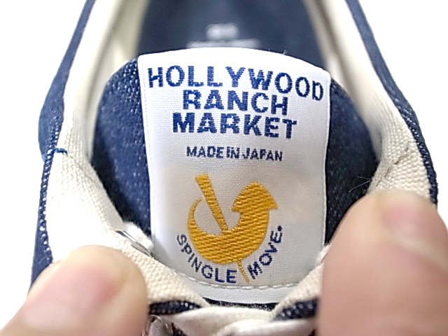 ★SALE 20%OFF★ HOLLYWOOD RANCH MARKET ハリウッドランチマーケット SPINGLE MOVE・HRM インディゴデッキシューズ-INDIGO
