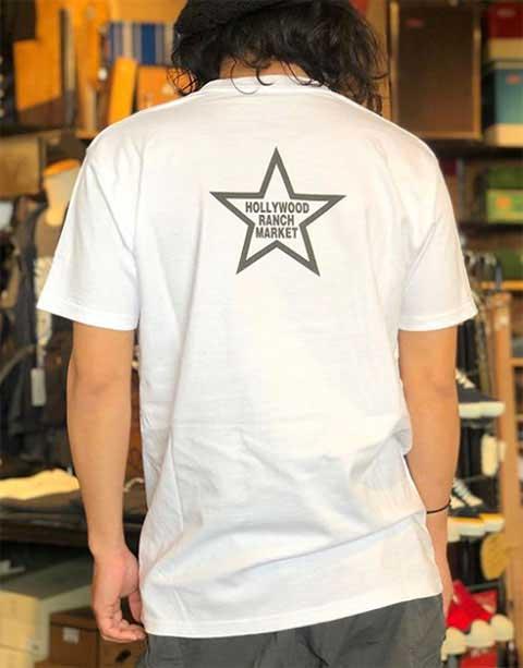 【SALE 40%OFF】 HOLLYWOOD RANCH MARKET ハリウッドランチマーケット SCREEN STARS HRM パームツリーHOLLYWOOD Tシャツ WHITE ホワイト