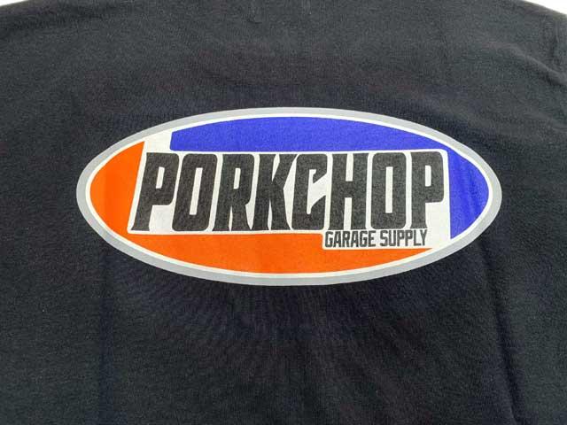 PORKCHOP GARAGE SUPPLY ポークチョップ ガレージサプライ 2nd Oval TEE セカンド オーバル Tシャツ 半袖 ショートスリーブ 2色(BLACK/WHITE)