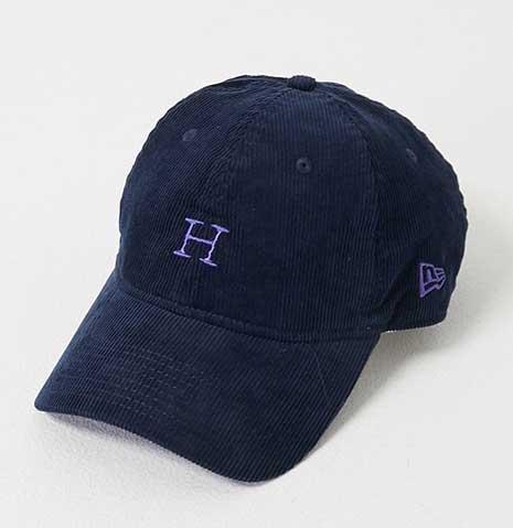 HOLLYWOOD RANCH MARKET ハリウッドランチマーケット × NEWERA HRM Hエンブロイダリー サマーコーデュロイキャップ 3色(BLACK/NAVY/BEIGE)