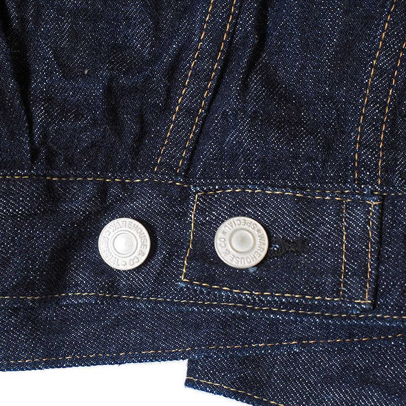 WAREHOUSE ウエアハウス Lot DD-2002 (SIDE PANEL STYLE) ONE WASH INDIGO サイドパネル ジージャン デニムジャケット ワンウォッシュ セカンドタイプ 袋付き