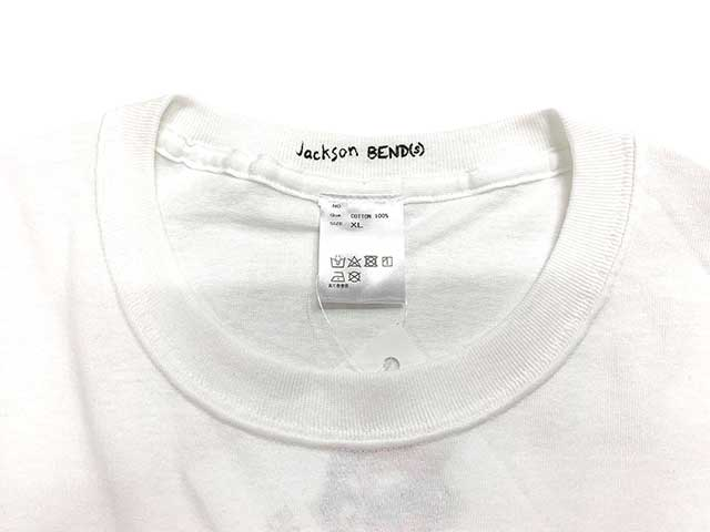 bend(s) ベンズ × JACKSON MATISSE Rodman Tee ジャクソンマティス コラボ デニス ロッドマン Tシャツ WHITE ホワイト MADE IN JAPAN