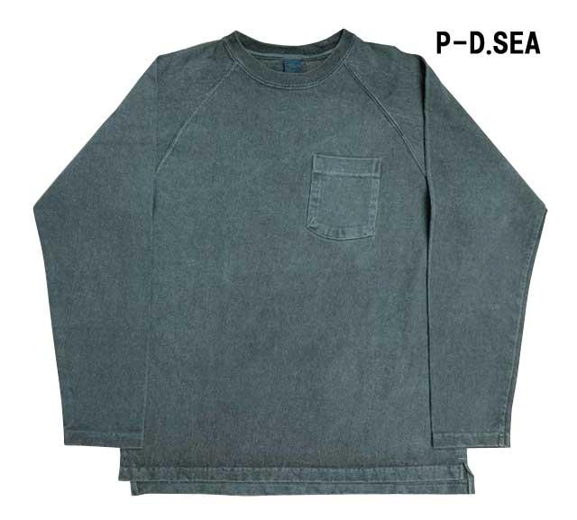 Good On グッドオン L/S HEAVY RAGLAN POCKET TEE ロングスリーブ ヘビー ラグラン ポケット Tシャツ 長袖 ヘビーオンス (反応染め) (PIGMENT DYE) (顔料染め)