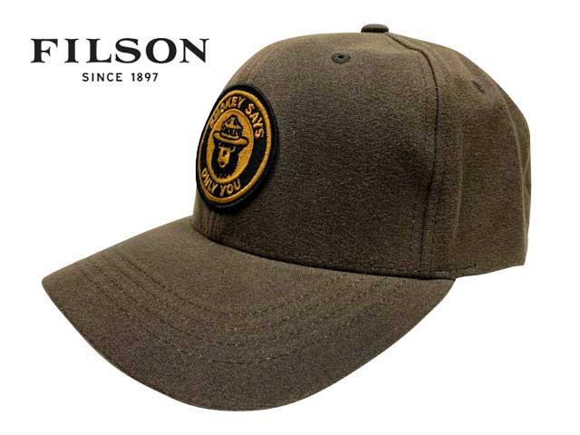 FILSON フィルソン #04549 Smokey Bear Logger Cap スモーキーベア ロガー キャップ 1-160 BROWN 帽子