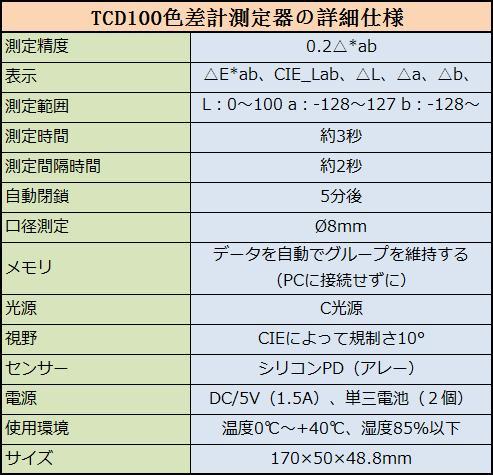 TIME 色差計 TCD100