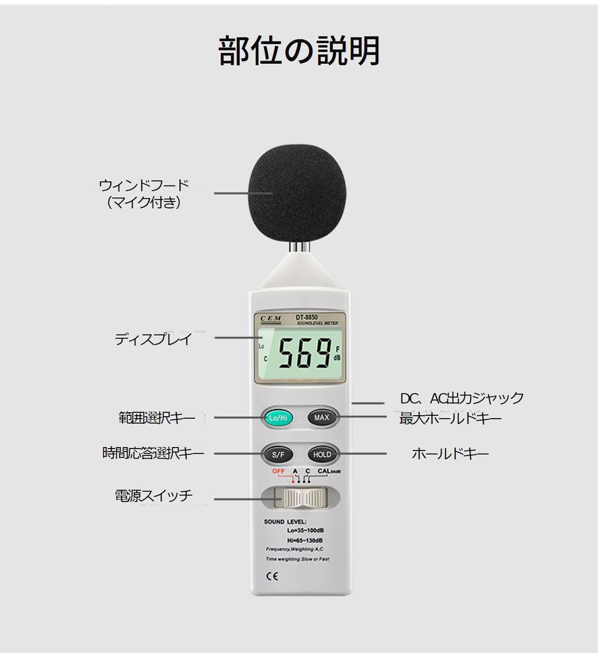CEM 騒音計 DT8852