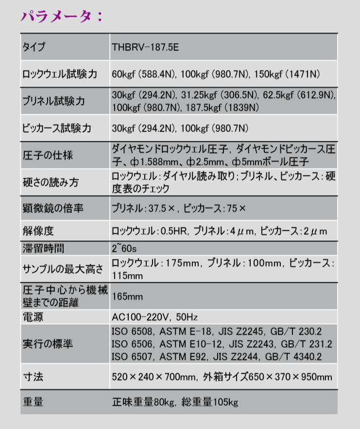 TIME マルチ硬度計THBRV-187.5E