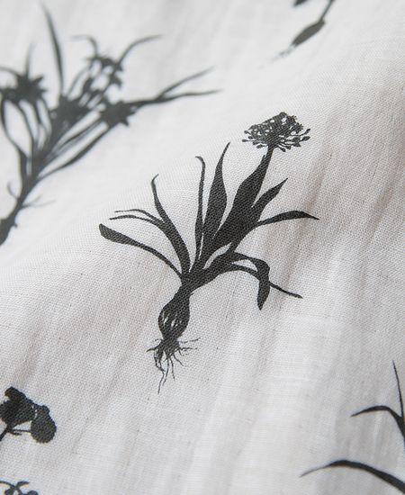 everlasting sprout エバーラスティングスプラウト 植物影絵のフレア袖プルオーバー