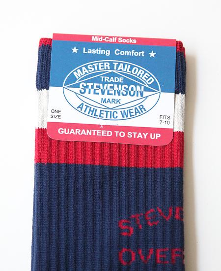 STEVENSON OVERALL CO. スティーブンソンオーバーオール ATHLETIC SOCKS (NAVY)