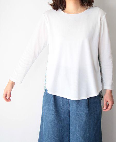 LE ZEPHYR ル・ゼフィール C'est bien fait リバティptコットン長袖Tシャツ (21140-12)