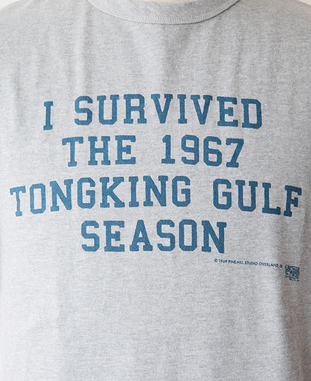 "COLIMBO コリンボ PRINTED T-SHIRTS "" Tongking Gulf "" (MOCK GRAY)"