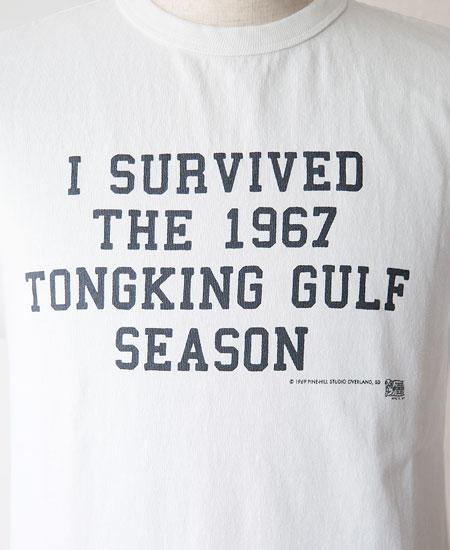 "COLIMBO コリンボ PRINTED T-SHIRTS "" Tongking Gulf "" (WHITE)"