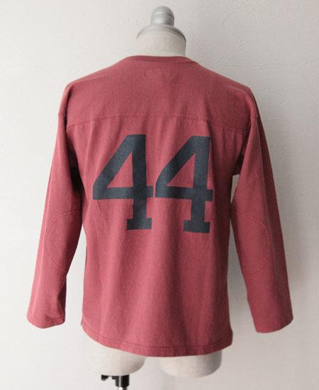 """【再入荷】COLIMBO コリンボ LAGUARDIA FOOTBALL TEE SHIRT """" ANNAPOLIS 44 """" (OLD ROSE)"""