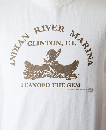 "COLIMBO コリンボ PRINTED T-SHIRTS "" Indian River Marina "" (WHITE)"