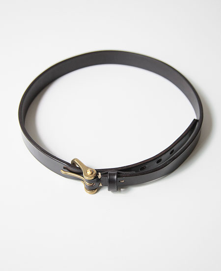 COLIMBO コリンボ HAFLINGER LEATHER BELT (BLACK)